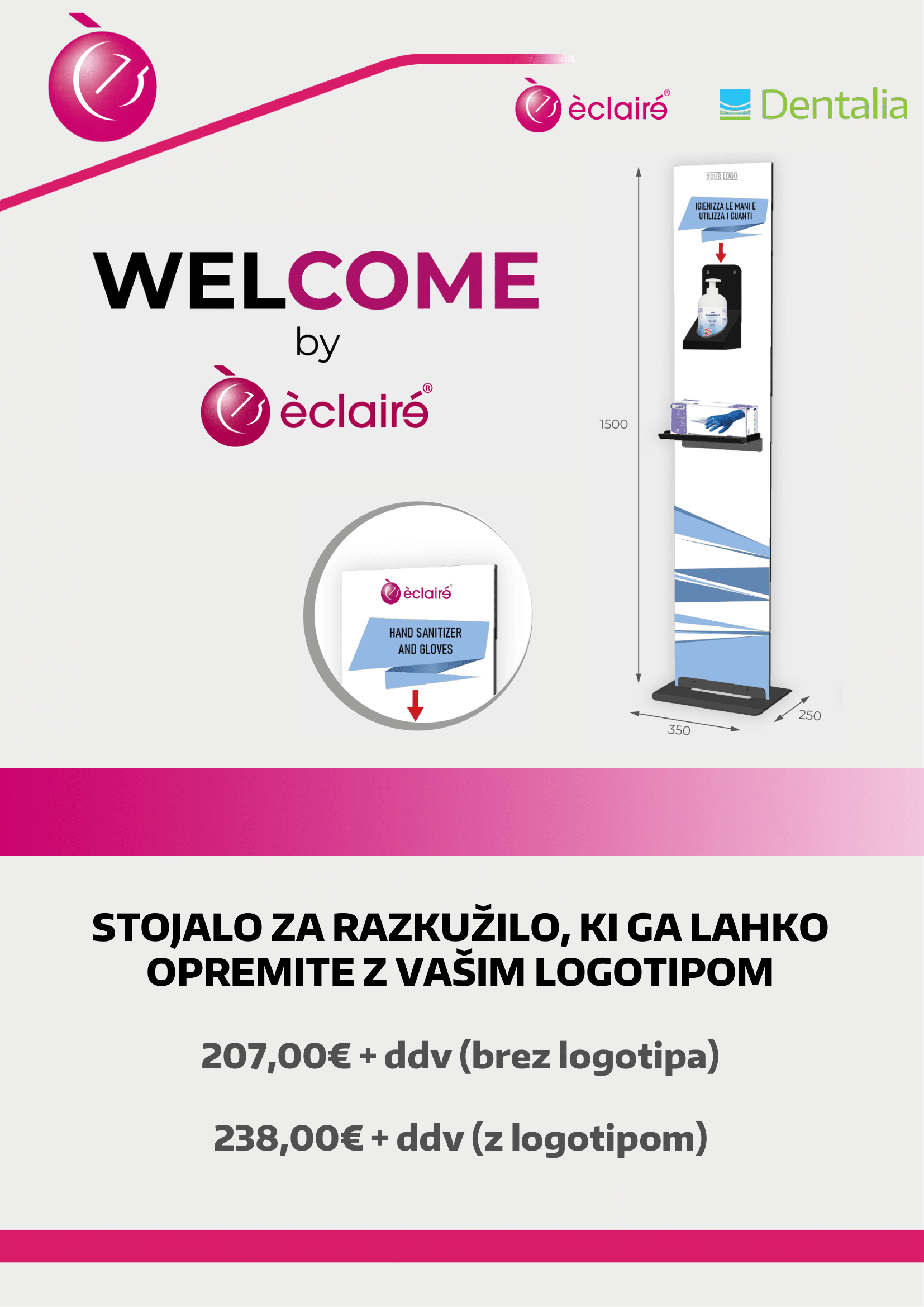 Welcome stojalo Eclaire